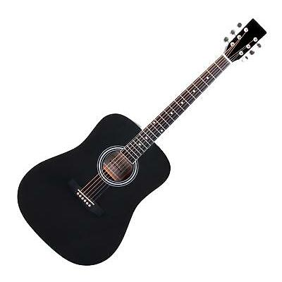 GUITARE ACOUSTIQUE FOLK WESTERN BLUES DREADNOUGHT 20 FRETTES 6 CORDES NOIR