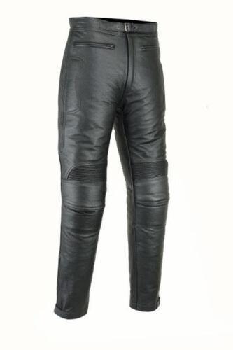 Rksports Skintan Imbottito Moto in pelle Nera Pantaloni