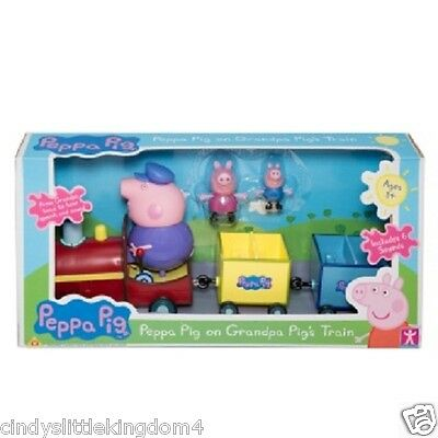 New Peppa Pig grandpa train figures speech sound Children playset toy
