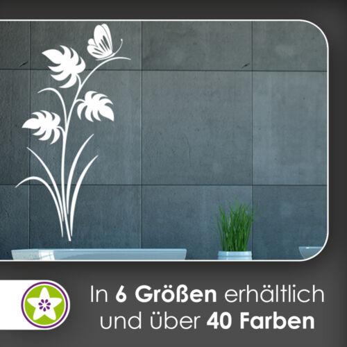 Waf0721-papillon sur plante mural Kiwistar-Autocollant