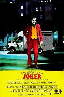 "/""Joker/"" Joaquin Phoenix 3 Sizes Movie Poster 2019 DC Comic/'s and Warner Bros"