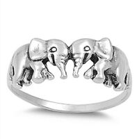 Sterling Silver Ring - Elephant