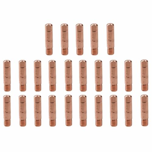 0.8mm Mig Welding Welder Round Contact Tips for MB15 Euro Torches 25pk