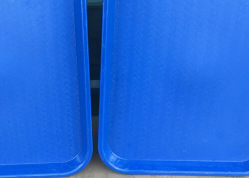 Fast Food Tray serving 14x18 tv cafeteria restaurant red cream brown blue black