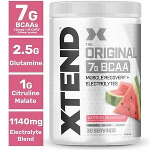 Scivation XTEND ORIGINAL 7G BCAA Powder Muscle, Recovery 30 Servings PICK FLAVOR