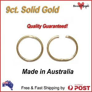 9ct-Solid-Gold-Sleepers-Hinged-Non-allergic-Aussie-Made-8mm-10mm-12mm-14mm
