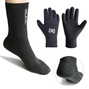3MM-Neoprene-Wetsuit-Cold-proof-Gloves-Socks-Swimming-Boots-Diving-Snorkeling