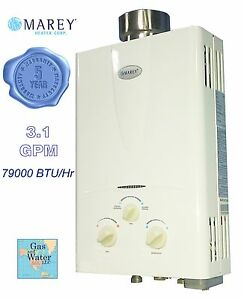 Tankless hot water heater 3 1 gpm natural gas 2 bath house for 3 bathroom tankless water heater