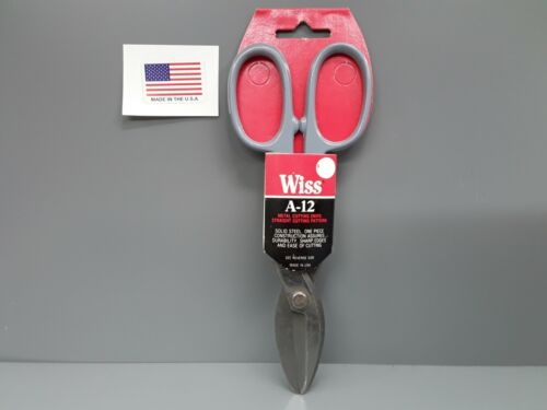 "RARE! Vintage Wiss A-12 Metal Cutting Tin Snips 8/"" *USA MADE* NEW OLD STOCK"