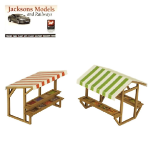 Pack of 2 Metcalfe PO530 Market Stalls Laser Cut Mini Kit OO//HO Gauge