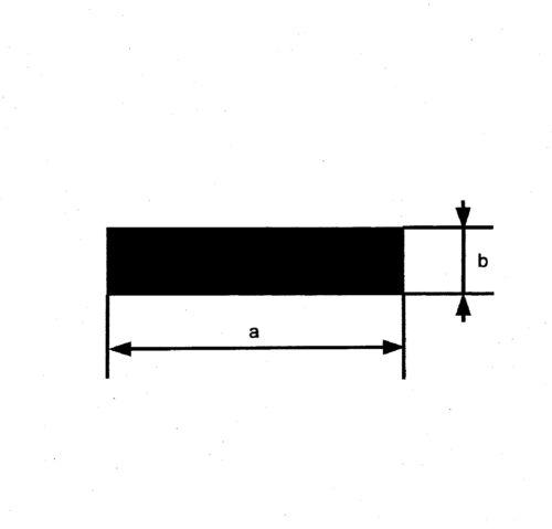 Edelstahl Flachstahl Bandstahl roh  V2A  1.4301  Länge frei wählbar bis 60 cm