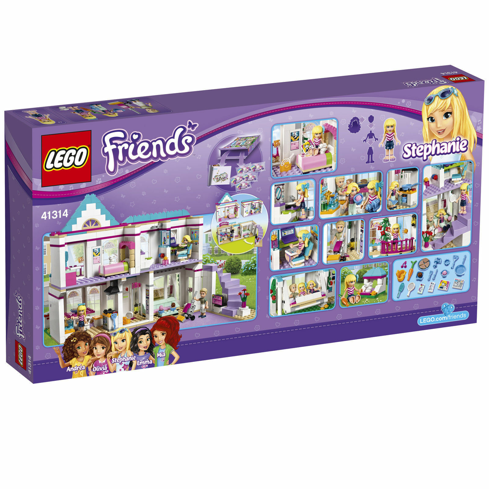 LEGO 41314 Stephanies CASA CON PERSONAGGI & molti accessori Nuovo/Scatola Originale