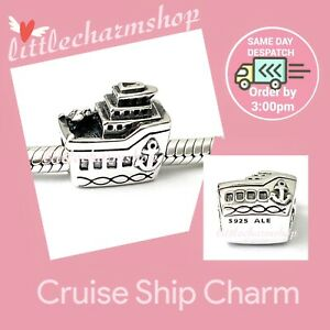 New-Authentic-Genuine-PANDORA-Sterling-Silver-Cruise-Ship-Charm-791043-RETIRED