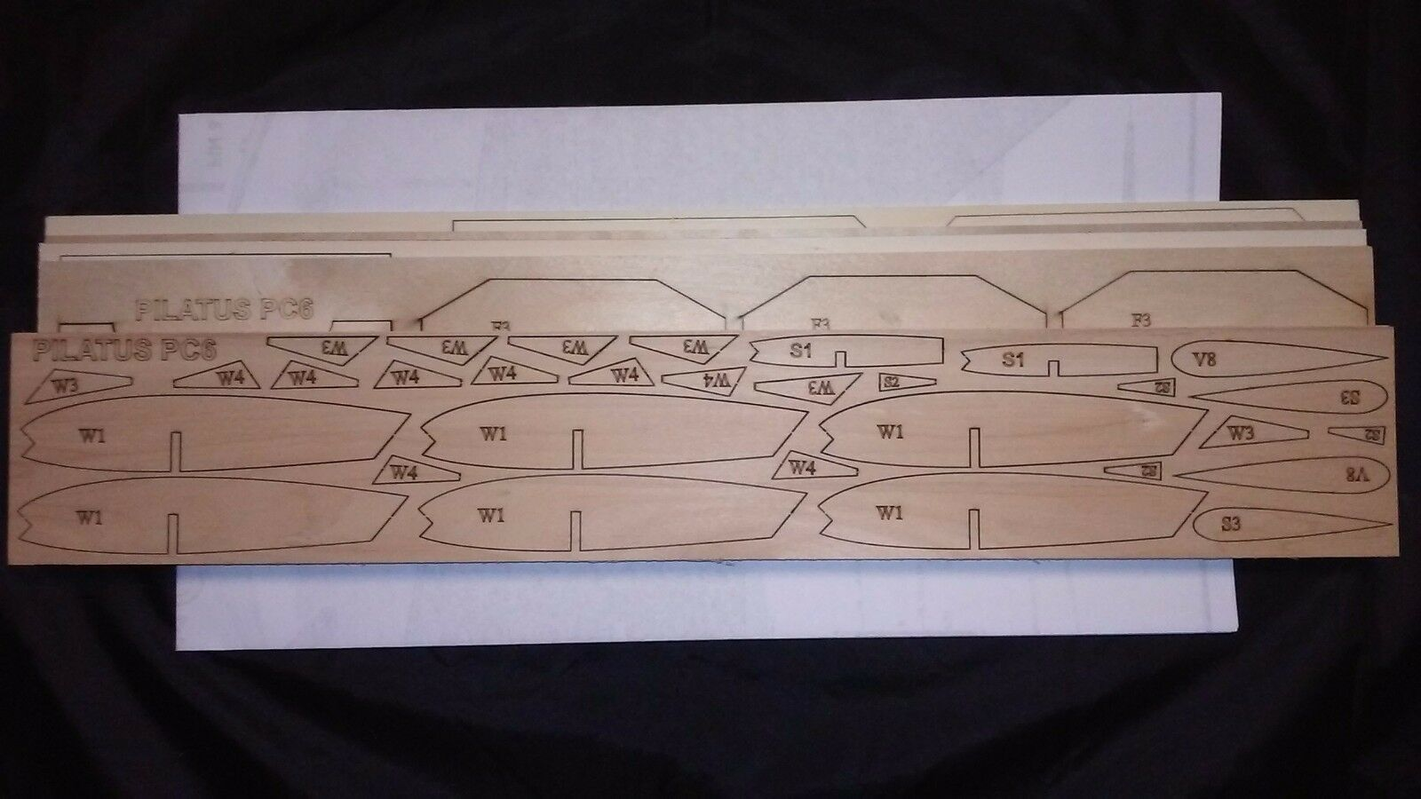 1 8 Scale PILATUS PC6 PORTER Laser Cut Short Kit & Plans 75 in. wingspan