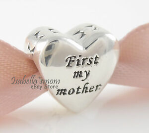 e78f2a0b4 FIRST MY MOTHER & FOREVER MY FRIEND Authentic PANDORA HEART Charm ...