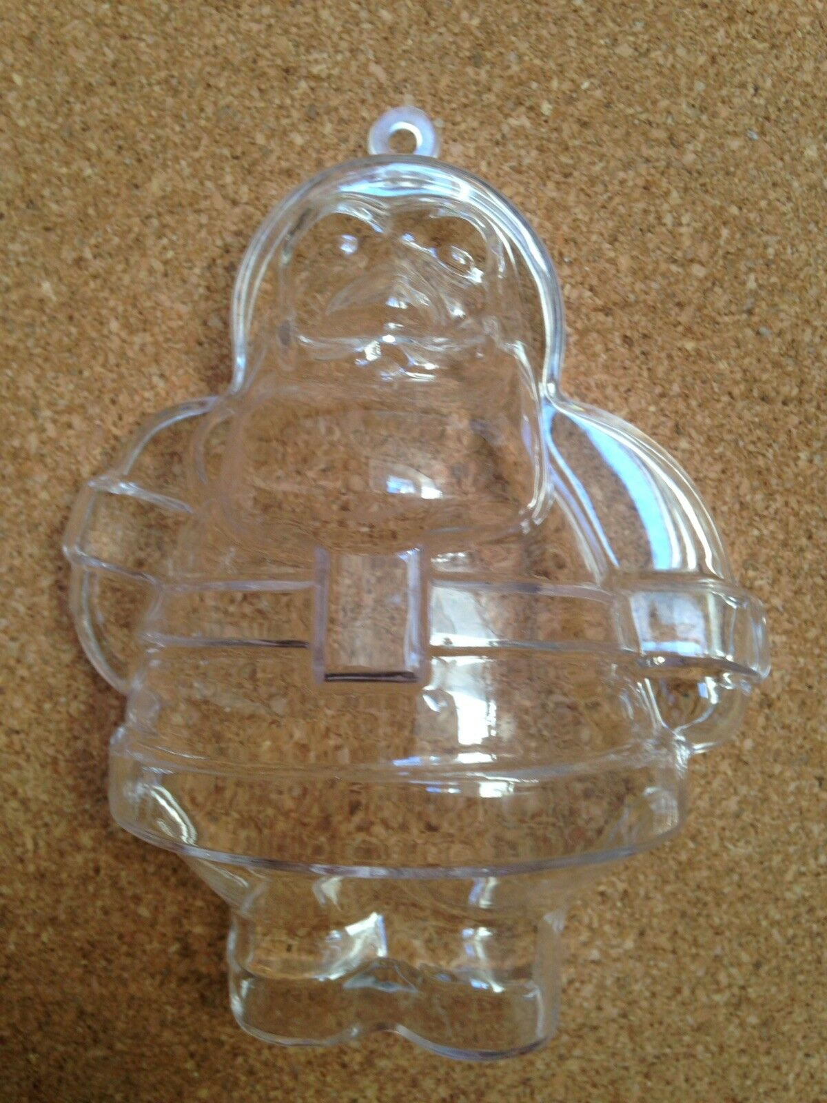50 KEYLINK KEYLINK KEYLINK NOVELTY CLEAR FATHER CHRISTMAS IDEAL FOR CHOC,FAVOURS,PARTIES a6029b
