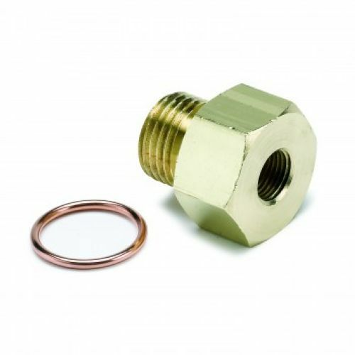 """Brass Auto Meter 2268 Metric Fitting Adapter M16X1.5 Male To 1//8/"""" NPTF Female"""
