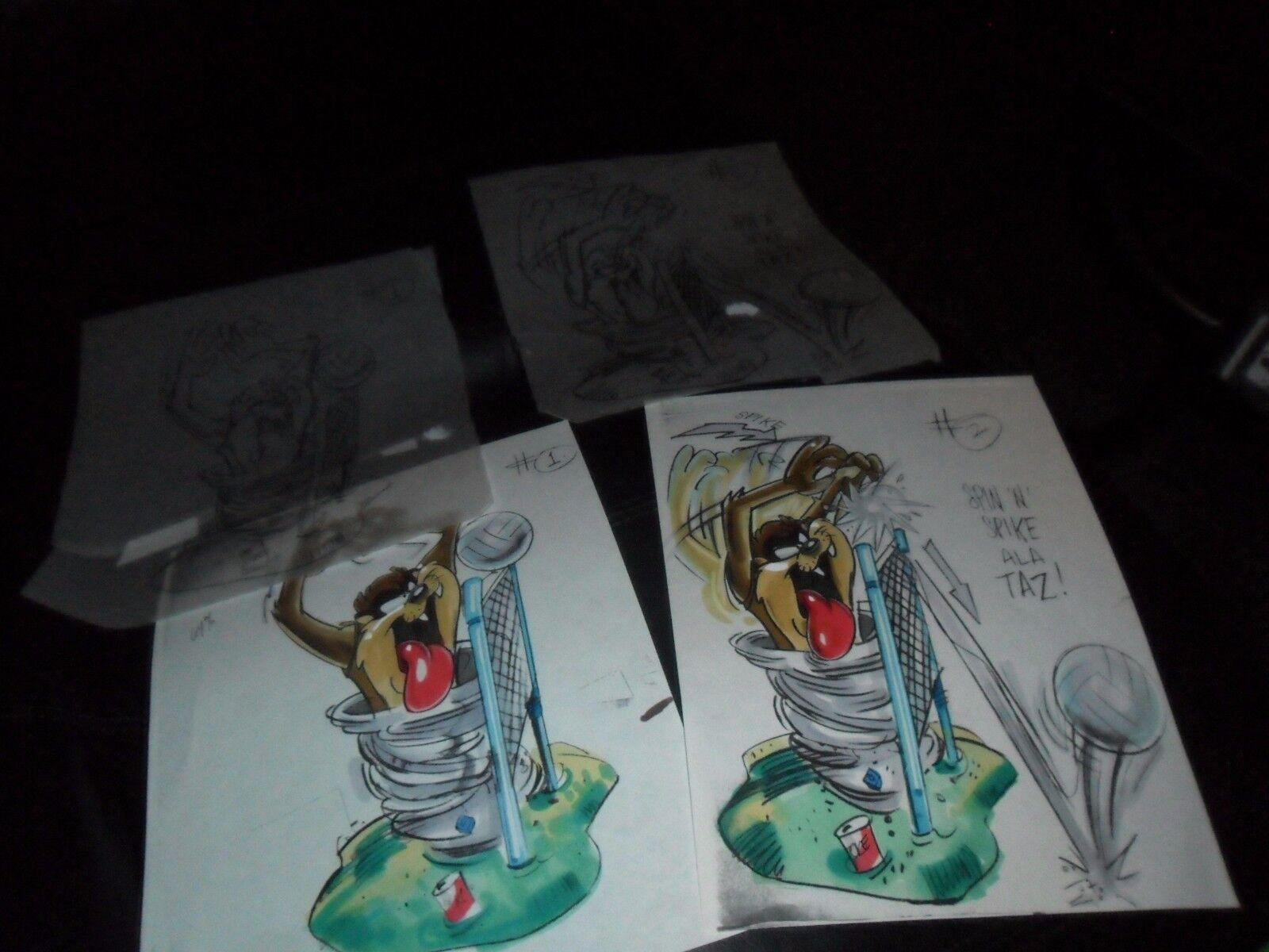 4 PIECE Lot URSPRUNG konst TASMANNIAN DEVIL TAZ VOLLEYboll KFC FAST FOOD leksak