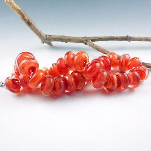Bonfire-8-Handmade-Lampwork-Glass-Beads-SRA-Artist-made-Beads