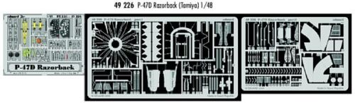 Eduard 1//48 P-47D Razorback PRE-PAINTED IN COLOUR etch for Tamiya # 49226