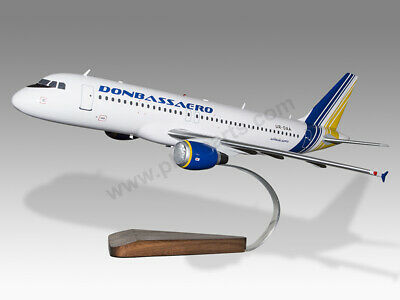 Collectables Genteel Airbus A320 Donbassaero Solid Kiln Dried Mahogany Wood Handmade Desktop Model Transportation Collectables
