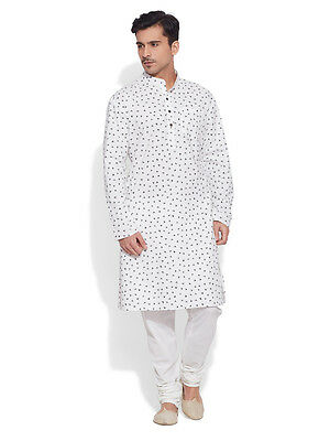 Very Me Men's Cotton Long Ivory Kurta (MCLK1030)