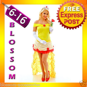 F86-Ladies-Princess-Belle-Beauty-The-Beast-Fancy-Dress-Halloween-Costume-Tiara
