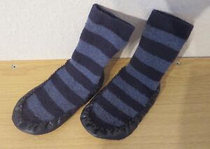 Durchsuchen Sie die neuesten Kollektionen retro moderate Kosten Details zu HAUSSCHUHE Gr. 23 blau Jungen Schuhe Puschen Schlappen Baby  Socken mit Sohle TOP