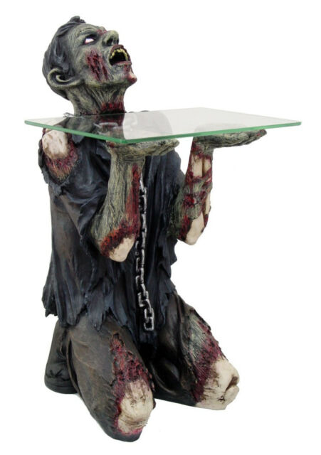 Decorative Scary Halloween Undead Zombie Figurine Table Statue Mesa  Zomi Muerto