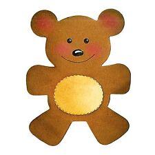 Sizzix Bigz Teddy Bear die #A10188 Retail $19.99 SO SWEET!  Cuts Fabric!!