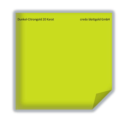 25 Blatt 8 x 8 cm Deutsche Qualität Dunkel-Citrongold 20 Karat Blattgold lose
