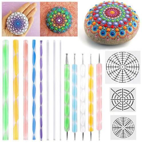 16pcs Mandala Dotting Tools Art Dot Painting Rock Pen Paint Stencil Set
