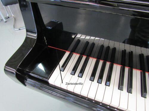 Zierleistenfilz für Klavier und Flügel 127 x 1,5 cm in verschienen Farben