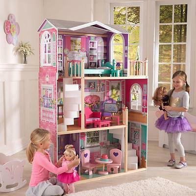 KIDKRAFT Elegantes Holz Puppenhaus Nr 65830  aus Holz für 46 cm Puppen