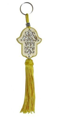 Orientalischer Schlüsselanhänger Holz Gelb