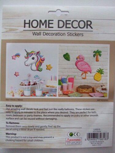 Unicorn Children/'s Wall Art Balloon Stickers 3 Colourful