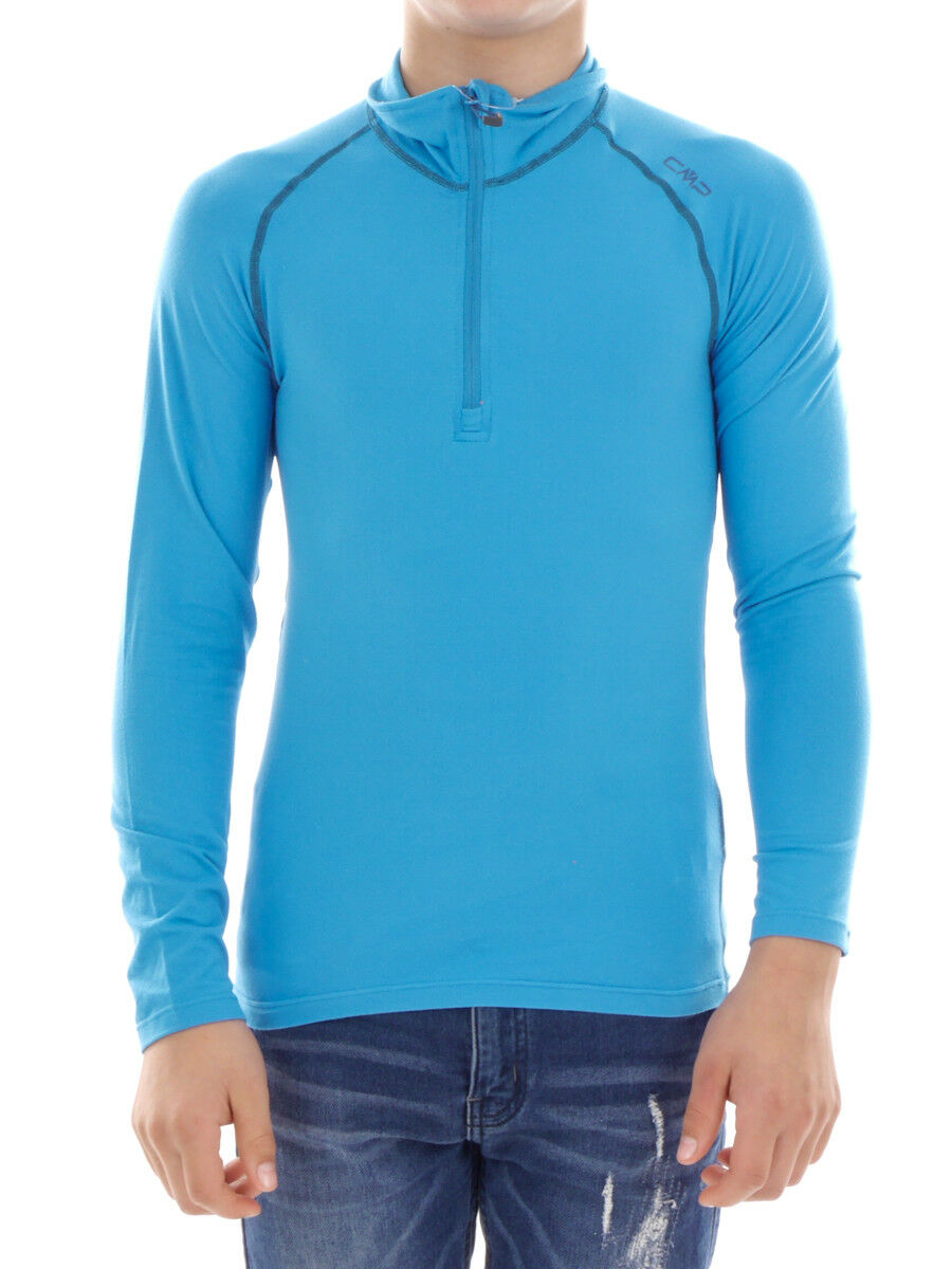 CMP Sweatshirt Function Top blue Collar Stretch Softech Thin