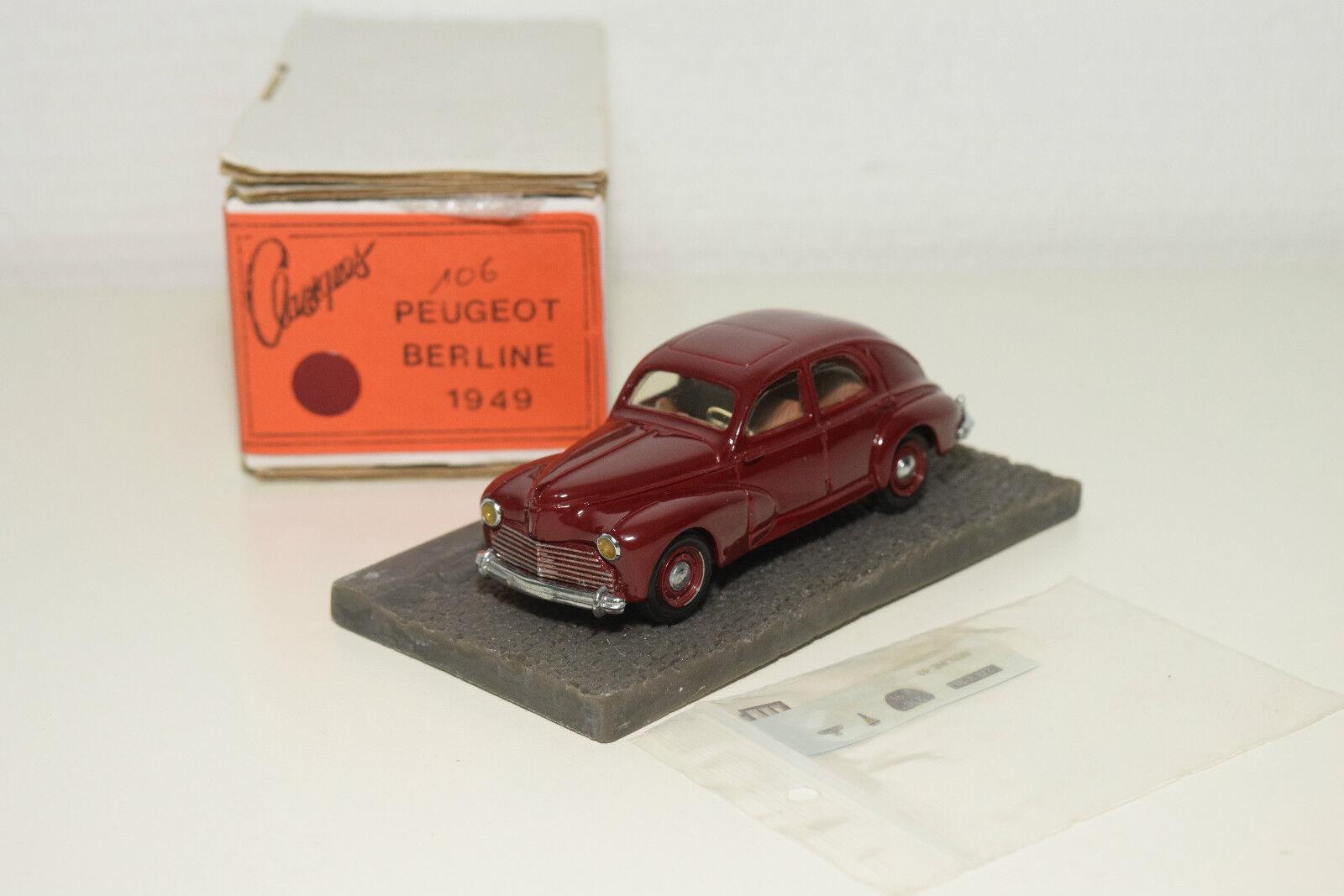 . CCC Classiques Peugeot 203 Berline MAROON MINT BOXED RARE RARE