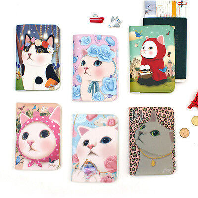 Lovely Jetoy Kitty  Passport Holder Cover Travel Wallet Card Case New Version