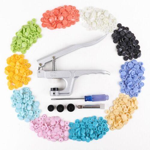 12mm Buttons/_x000D/_/_x000D/_ 150 Stueck farbige Installationszange Drucktaste