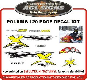 POLARIS 120 XC EDGE  Reproduction Decal Kit  graphics stickers