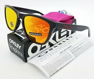 b658f3c8852 Image is loading NEW-Oakley-Frogskins-sunglasses-Black-Ink-Prizm-Ruby-