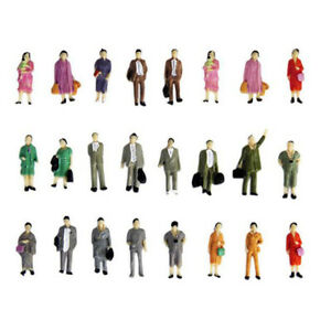 50Pcs-1-87-Scala-Colore-Persone-Modello-Mini-Model-Standing-People-For