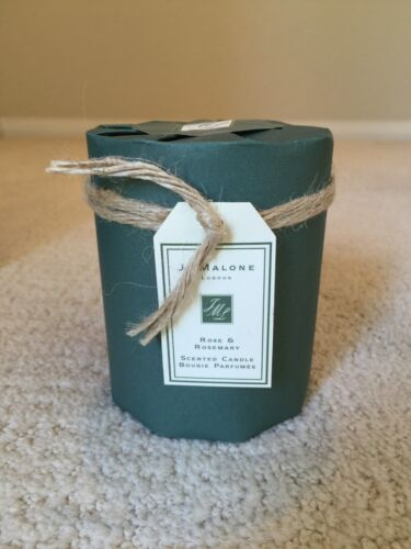 Jo Malone Rose and Rosemary Candle Full Size 2.5 IN RARE Charity Edition