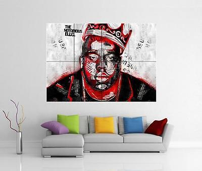 NOTORIOUS B.I.G BIGGIE SMALLS GIANT WALL ART PHOTO PICTURE PRINT POSTER
