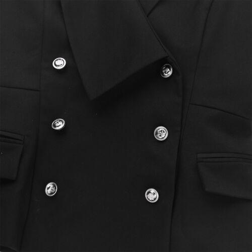 Womens Slim Fit Suit Vest Formal Party Tuxedo Suit Costumes Waistcoat Jacket Top