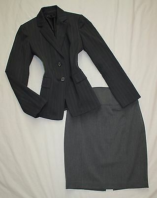 EXPRESS Size 2 Women's Skirt Suit Gray PERFECT!