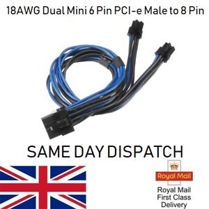 Dual-Mini-6-Pin-PCI-e-Male-to-8-Pin-Graphics-Card-Power-Cord-for-Mac-Pro-18AWG