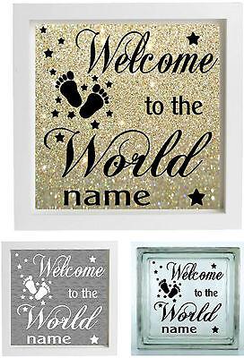 Amichevole Adesivo Vinile Per Ikea Ribba Cornice-welcome To The World Adesivo Neonato Regalo- Rinvigorire Efficacemente La Salute