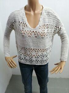 Maglione-HOLLISTER-donna-taglia-size-S-woman-sweater-pull-cotone-P-6098